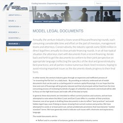 Model Legal Documents - NVCA
