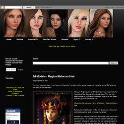 3d Models - Regina Malorum Hair