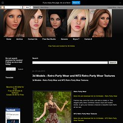 3d Models - Retro Party Wear and WT2 Retro Party Wear Textures