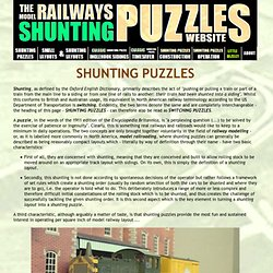 MODEL RAILWAY SHUNTING PUZZLES