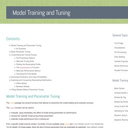 Model Training and Tuning