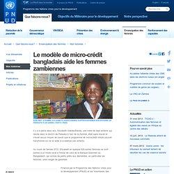 Le modèle de micro-crédit bangladais aide les femmes zambiennes