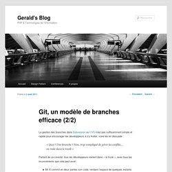 Git, un modèle de branches efficace (2/2)