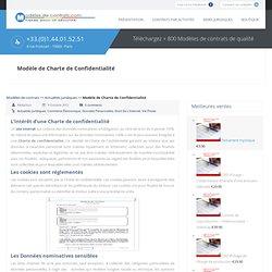 Modèle de Charte de Confidentialité