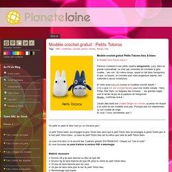 Modèle crochet gratuit : Petits Totoros