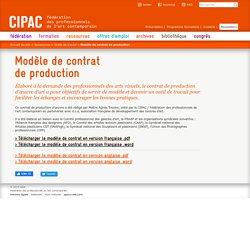 Modèle de contrat de production