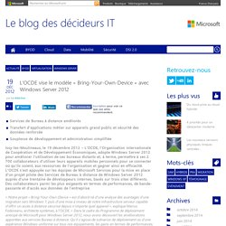 L'OCDE vise le modèle « Bring-Your-Own-Device » avec Windows Server 2012