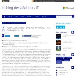 L'OCDE vise le modèle « Bring-Your-Own-Device » avec Windows Server 2012