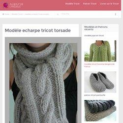 modèle echarpe tricot torsade