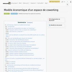 Modèle économique d'un espace de coworking