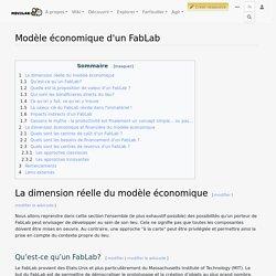 Modèle économique d'un FabLab — Movilab.org