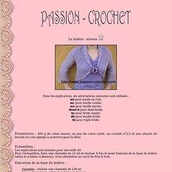 Modèle de Gilet Boléro au crochet