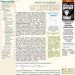 Modèle de Hubbard