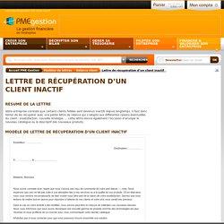 Modèle lettre relance client