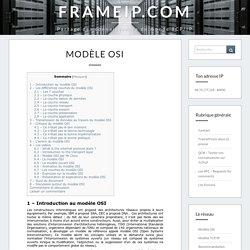 Modèle OSI - FRAMEIP.COM