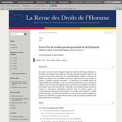 Pour la fin du modèle pseudo-procréatif en droit français