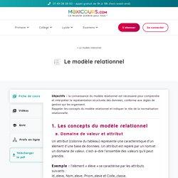 Le modèle relationnel - Maxicours
