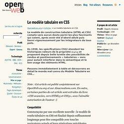 Le modèle tabulaire en CSS