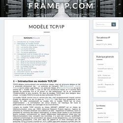 Modèle TCP/IP - FRAMEIP.COM