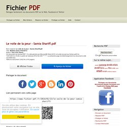 Modele epub 27/02/2012 par Your User Name - Le voile de la peur - Samia Shariff.pdf - Fichier PDFLa bible du shopping