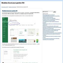 Modèles Excel pour gestion RH