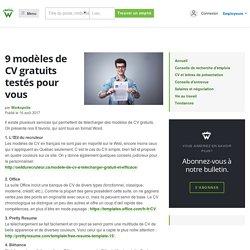 9 modèles de CV gratuits testés pour vous - Workopolis