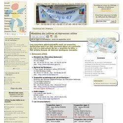 Modèles de Lettres et Adresses utiles
