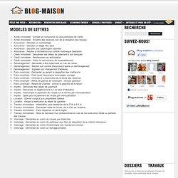 Modèles de lettres : Blog Maison - travaux, rénovation, décoration -