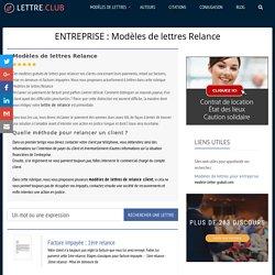 Modèles de lettres de Relance pour vos clients (Entreprise).