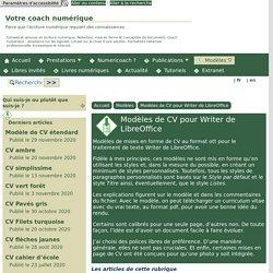 Modèles de CV pour Writer de LibreOffice - [Votre coach numérique]