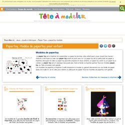 Paper toy, Modèle de paper toy pour enfant sur Tête à modeler l Paper toy