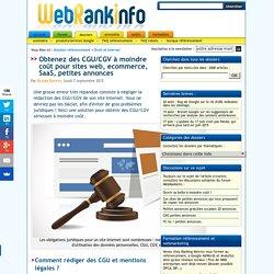 Modèles de CGU/CGV pour site web, ecommerce, SaaS