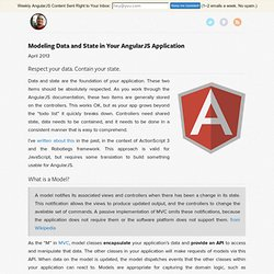Modeling Data and State in Your AngularJS Application