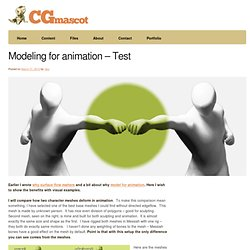 Modeling for animation – Test