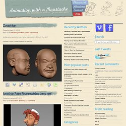 Modeling :Animation with a moustache
