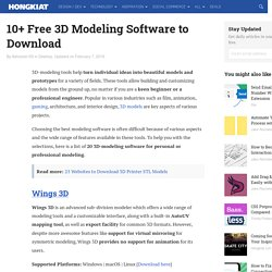25 (Free) 3D Modeling Applications You Should Not Miss - Hongkiat