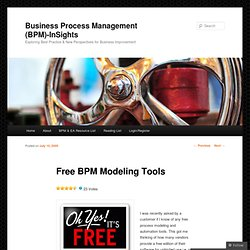 Free BPM Modeling Tools « Business Process Management (BPM) – InSights