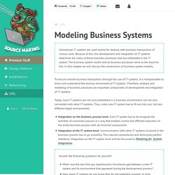 Modeling Business Systems