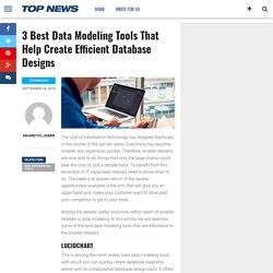 3 Best Data Modeling Tools That Help Create Efficient Database Designs