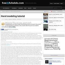 Hand modeling tutorial
