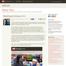 Modeling In Science: K-12