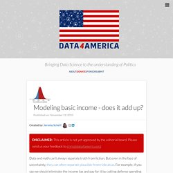 Modeling basic income - does it add up? - Data4America