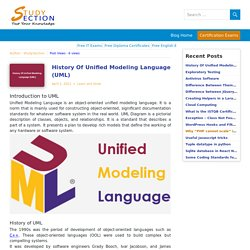 History Of Unified Modeling Language (UML) - StudySection Blog