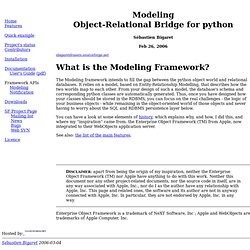 Modeling Object-Relational Bridge for python