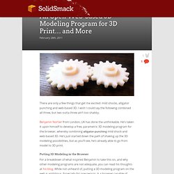 An Open Web-based 3D Modeling Program for 3D Print… and More - SolidSmack