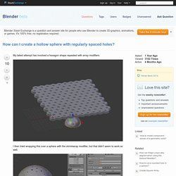 modeling - How can I create a hollow sphere with regularly spaced holes? - Blender Stack Exchange