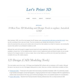 10 Best Free 3D Modeling and Design Tools to replace Autodesk 123D - Let's Print 3D