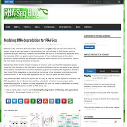 Modeling RNA degradation for RNA-Seq