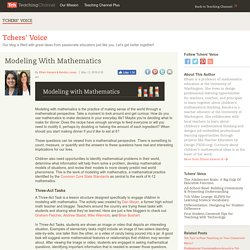 Modeling With Mathematics