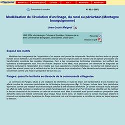 Modélisation de l'évolution d'un finage, du rural au périurbain (Montagne bourguignonne)